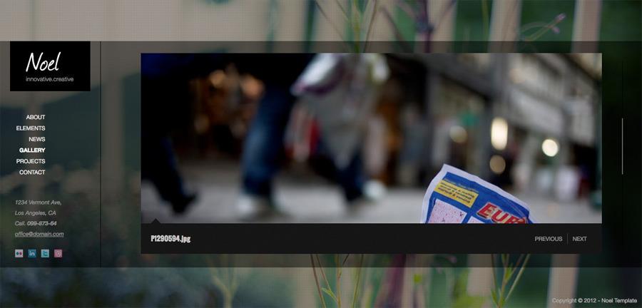 Noel - Onepage AJAX Template - Gallery