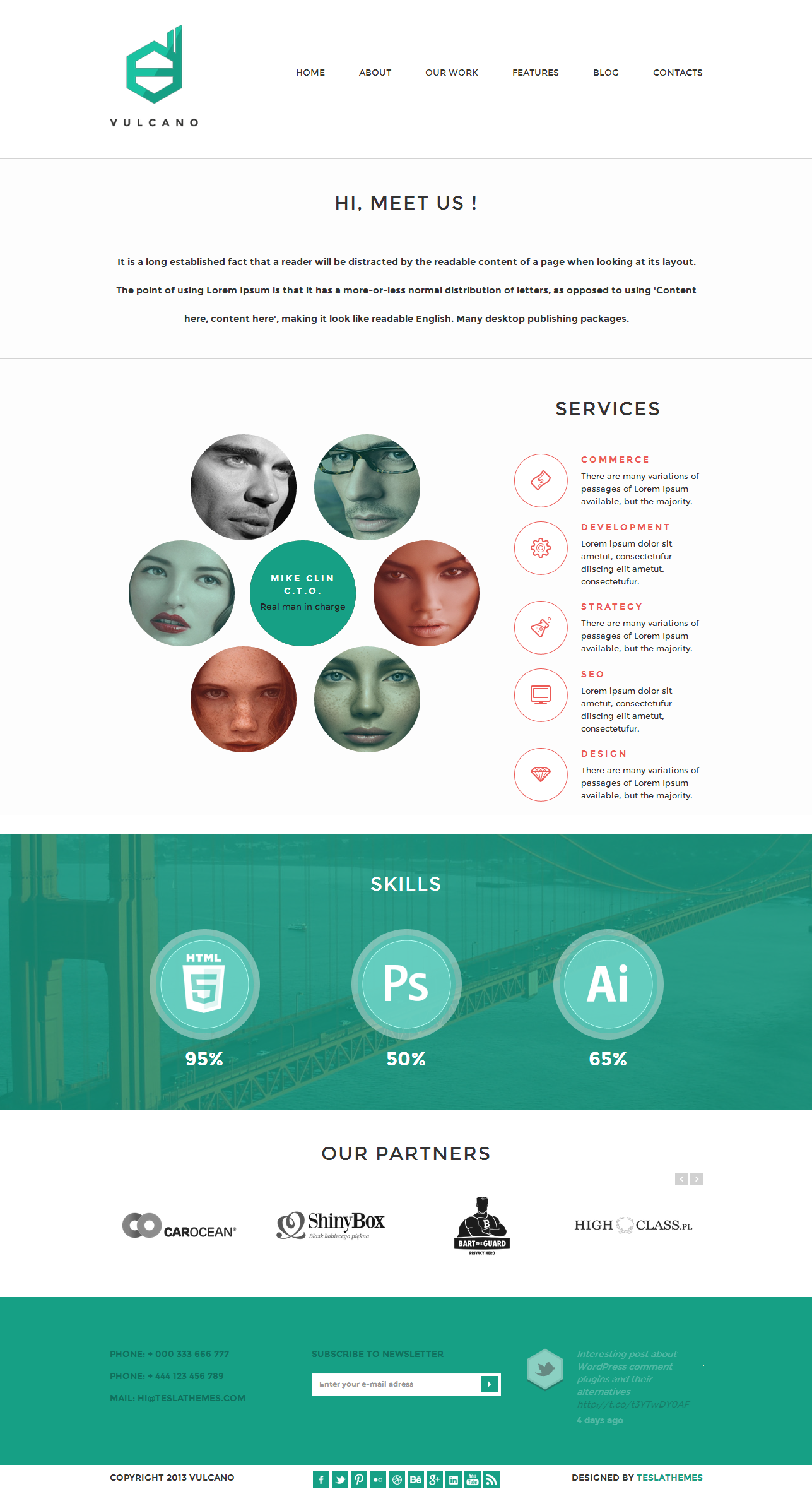 Vulcano - Creative WordPress Theme