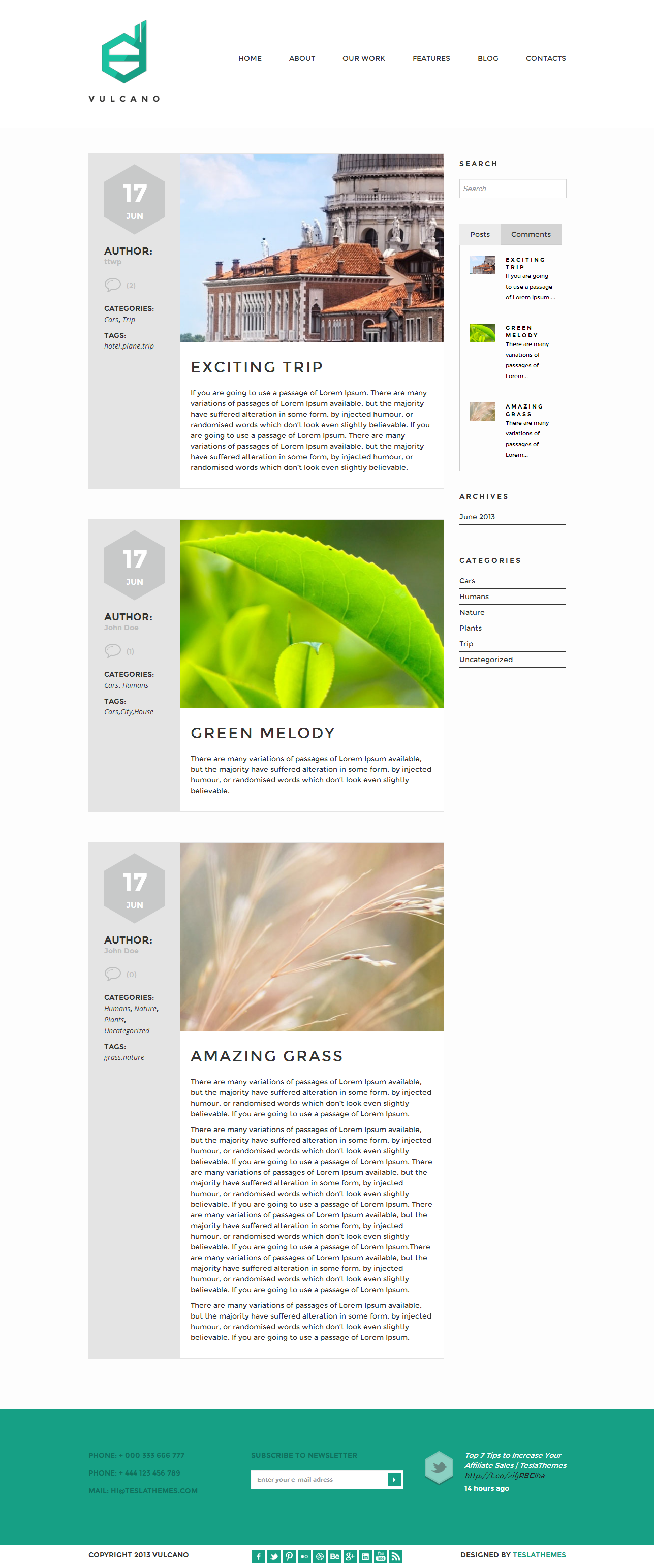 Vulcano - Creative WordPress Theme