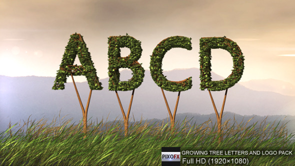 Growing Tree Letters And Logo Pack