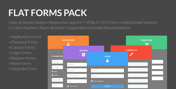 CodeCanyon Flat Forms Pack 5148598