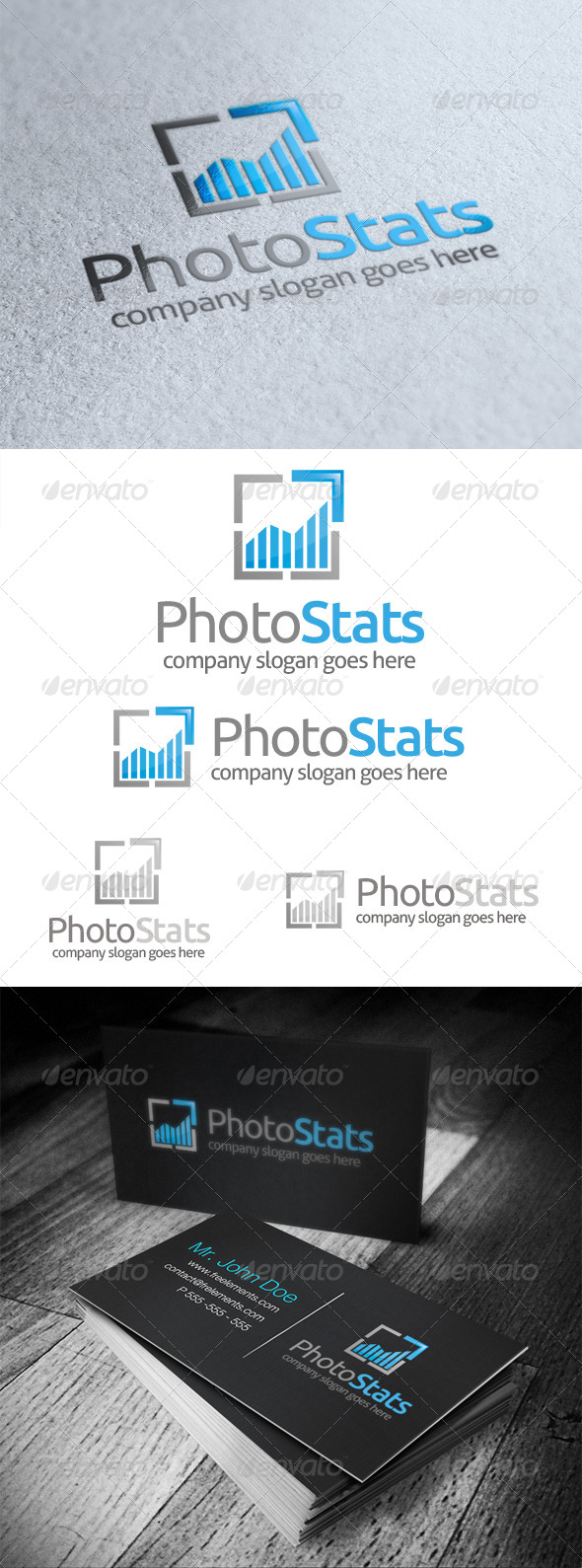 Photo Stats Logo - Symbols Logo Templates