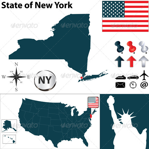 GraphicRiver Map of New York 5148780