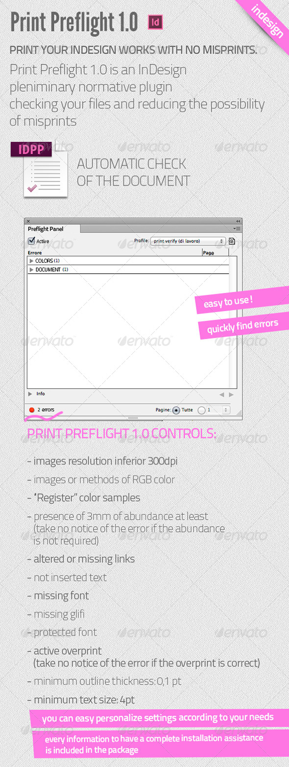 GraphicRiver Print Preflight for InDesign 5148786