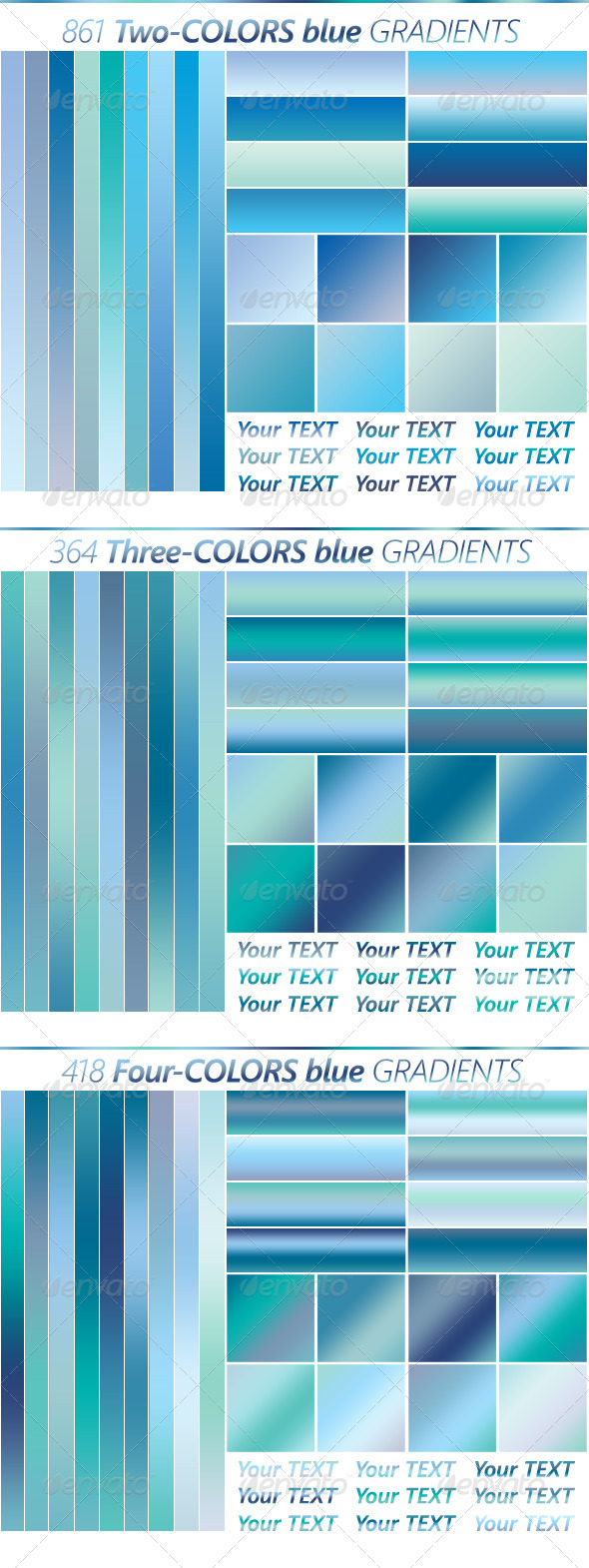 GraphicRiver The Ultimate Blue Gradients Collection 5148803