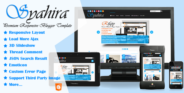 ThemeForest Syahira Responsive Blogger Template 5148877