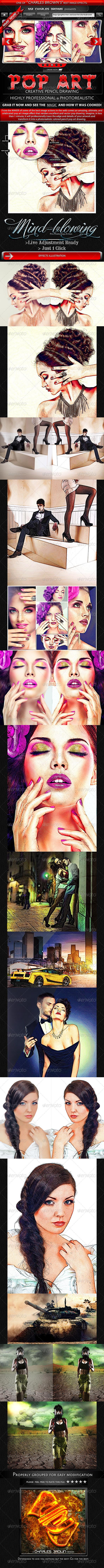 GraphicRiver Creative Pop Art Pencil Drawing 5148941