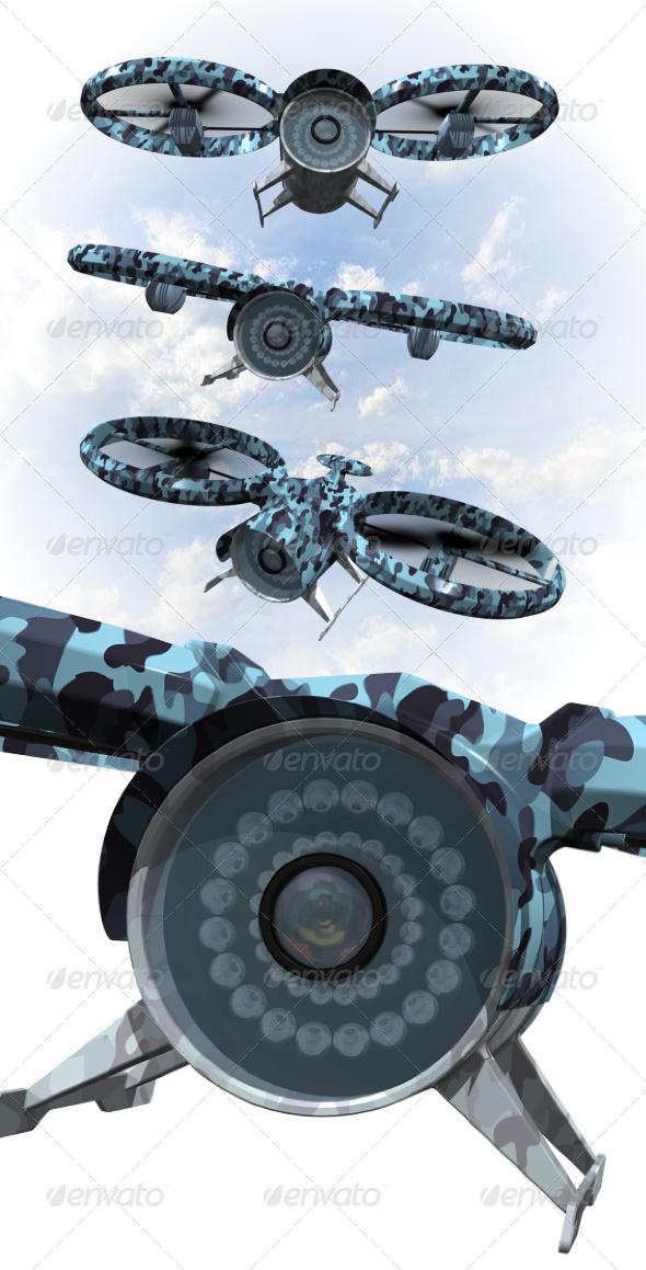 GraphicRiver Surveillance Drone 5149203