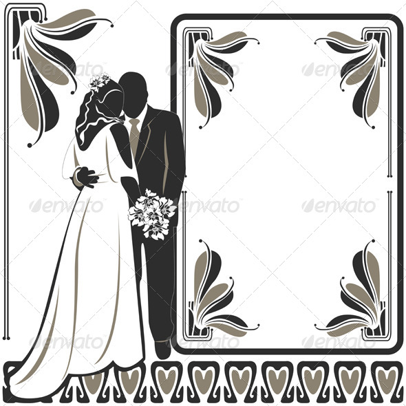 Invitation with Wedding Pair