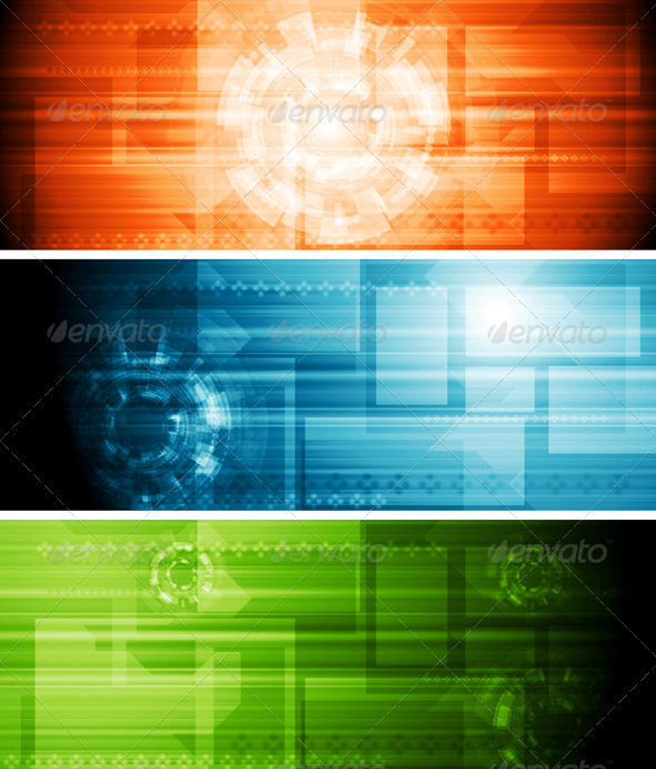 GraphicRiver Abstract Hi-Tech Banners 5149593