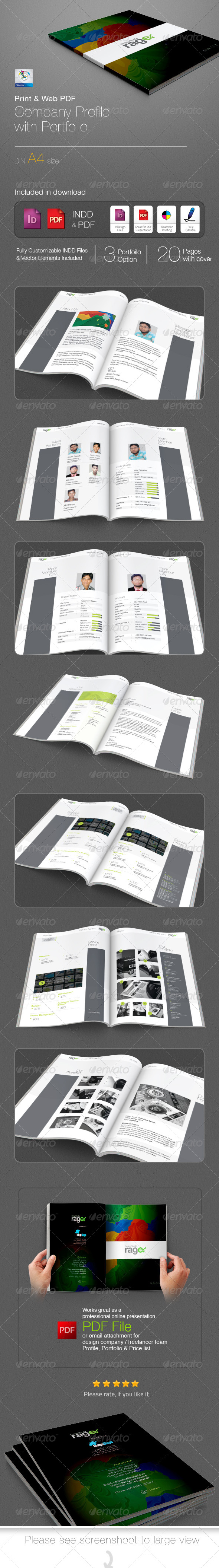 GraphicRiver Company Profile with Portfolio Booklet 5091907