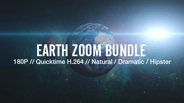 Videohive  Earth Zoom Bundle 5149784 HD 3 different styles