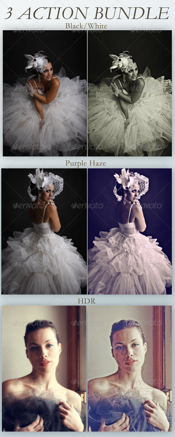 GraphicRiver 3 Image Actions Bundle 5149855