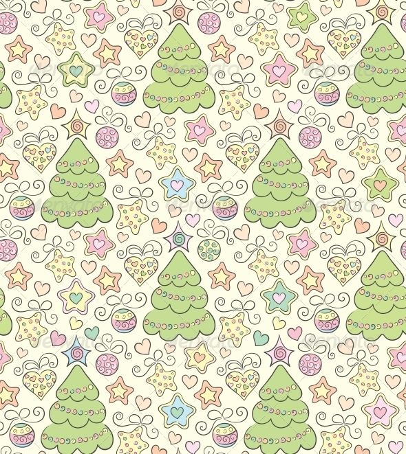 Seamless Christmas Color Background