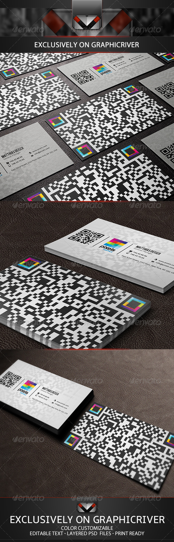 GraphicRiver QR Code Business Card 5149884
