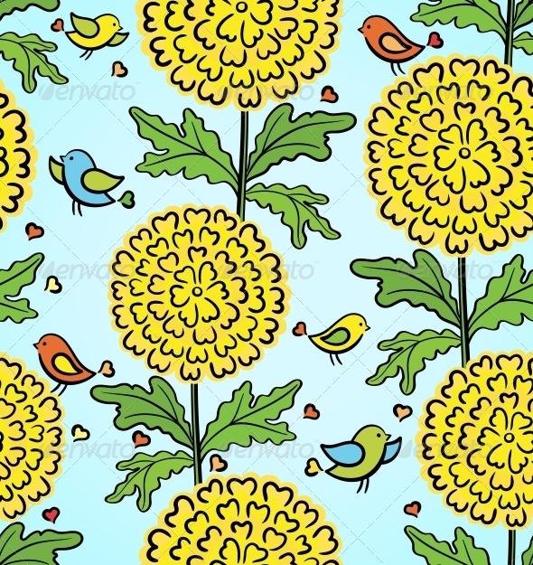 Decorative Colorful Seamless Pattern