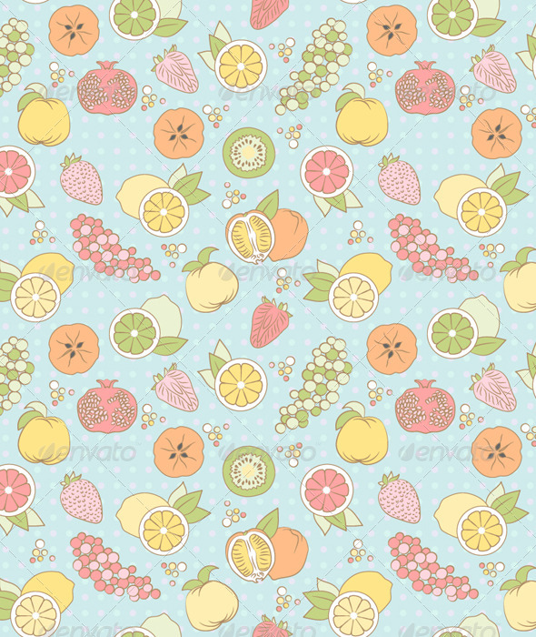GraphicRiver Seamless Pattern with Fruits and Berries 5149894