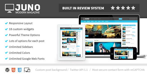 Juno Responsive WordPress Magazine Theme