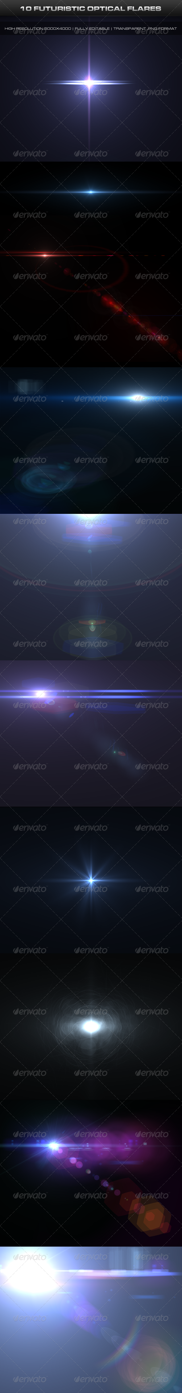 GraphicRiver 10 Futuristic Optical Flares 5130091