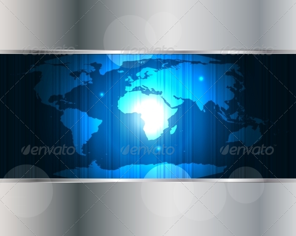 GraphicRiver World Map Background Illustration 5150112