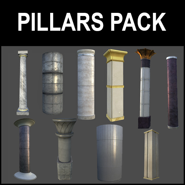 Pillar Pack - 3DOcean Item for Sale
