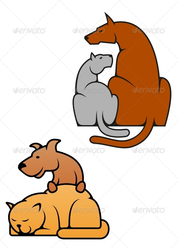 GraphicRiver Domestic Pets Cat and Dog 5150294