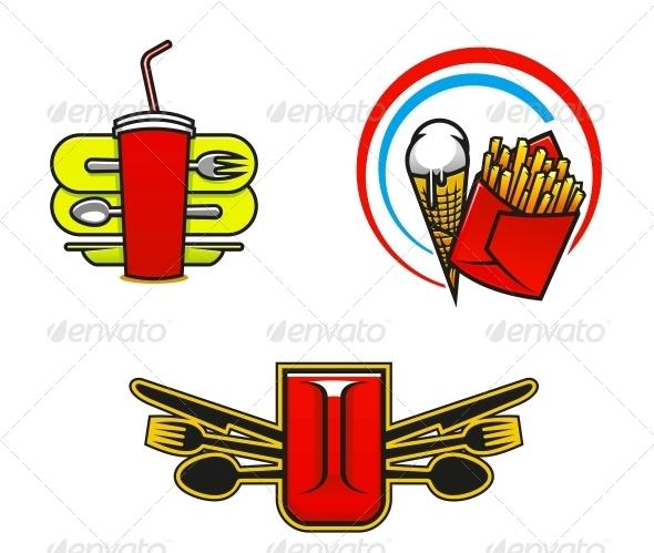 GraphicRiver Fast Food Symbols 5150302