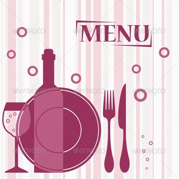 Purple Background for Cafe Menu Design