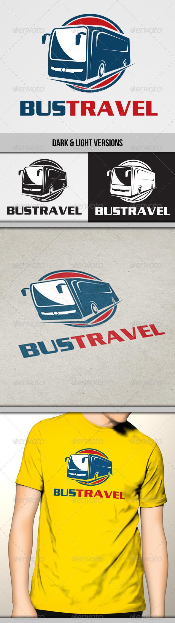 GraphicRiver Bus Travel Logo 5127684