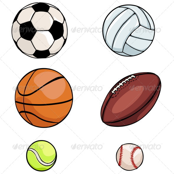 GraphicRiver Vector Set of Sports Balls 5150736