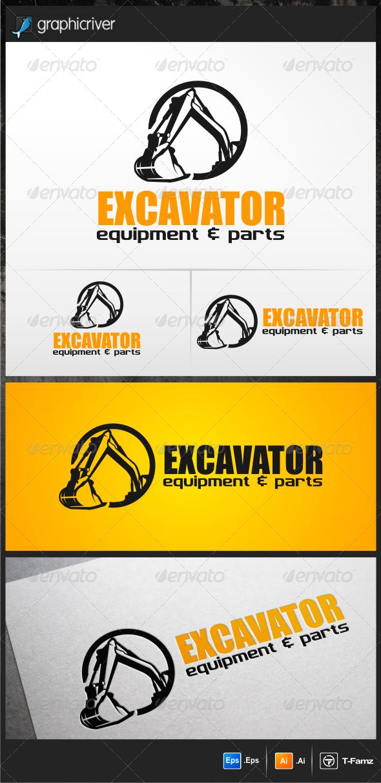 Excavator Logo - Objects Logo Templates