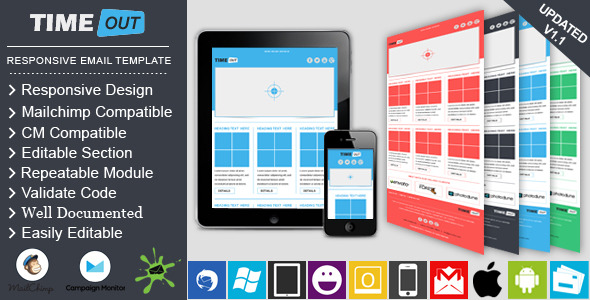 TIMEOUT - Responsive Professional Email Template