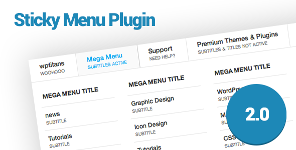 WP Sticky Menu Plugin - CodeCanyon Item for Sale