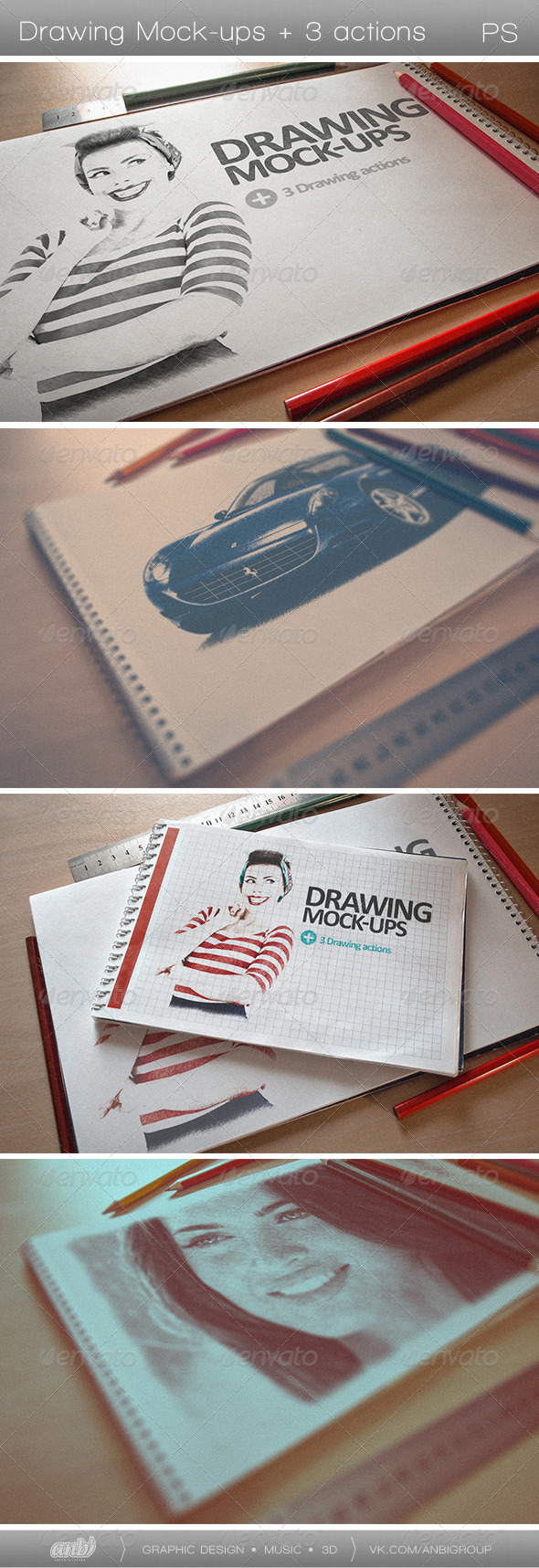 GraphicRiver Drawing Mock-ups 5150882