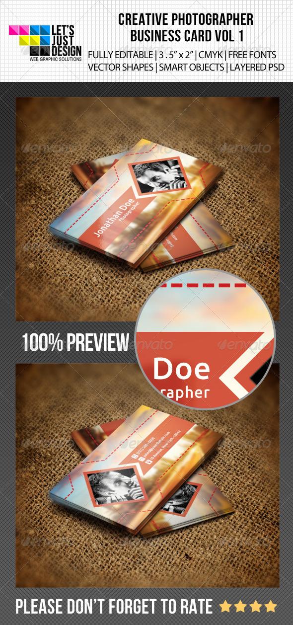 GraphicRiver Creative Photographer Business Card Vol 1 5150943