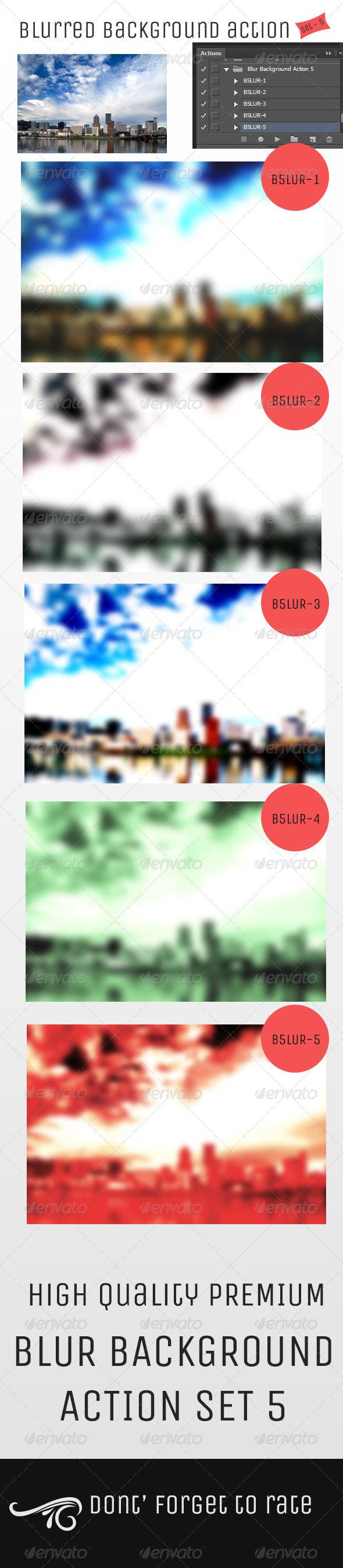 GraphicRiver Blur Background Action Set V5 5150986