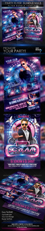 GraphicRiver Party Flyer Scream Bundle 2 in 1 5150997
