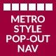 Metro Style Pop-Out Navigation menu - WorldWideScripts.net Item for Sale