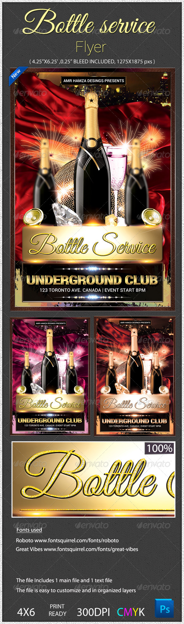 GraphicRiver Bottle Service Night Club Flyer 5151015