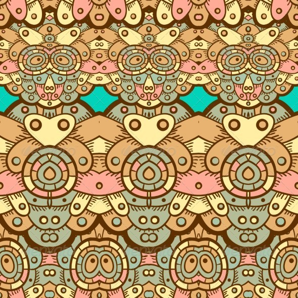 GraphicRiver Ethnic Seamless Pattern Indian 5151156