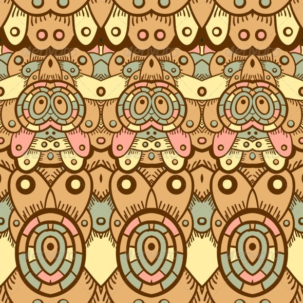Ethnic Seamless Pattern Indian