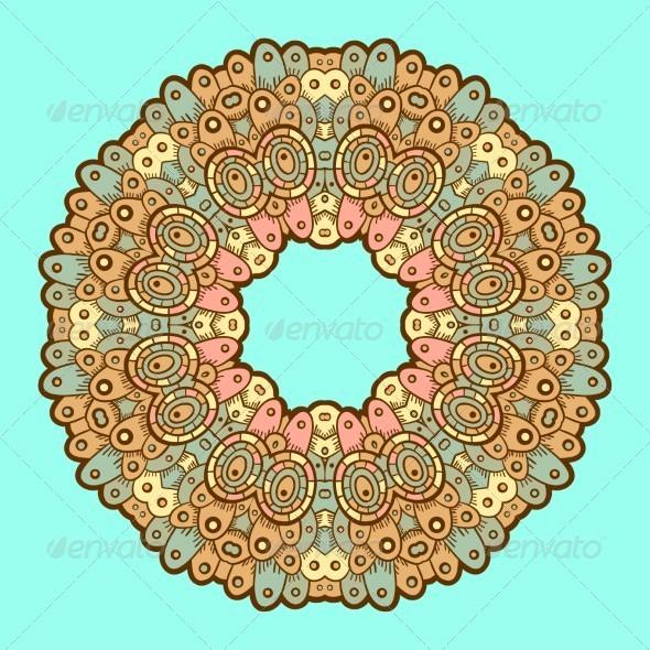 GraphicRiver Ornamental Lace Pattern Circle 5151174