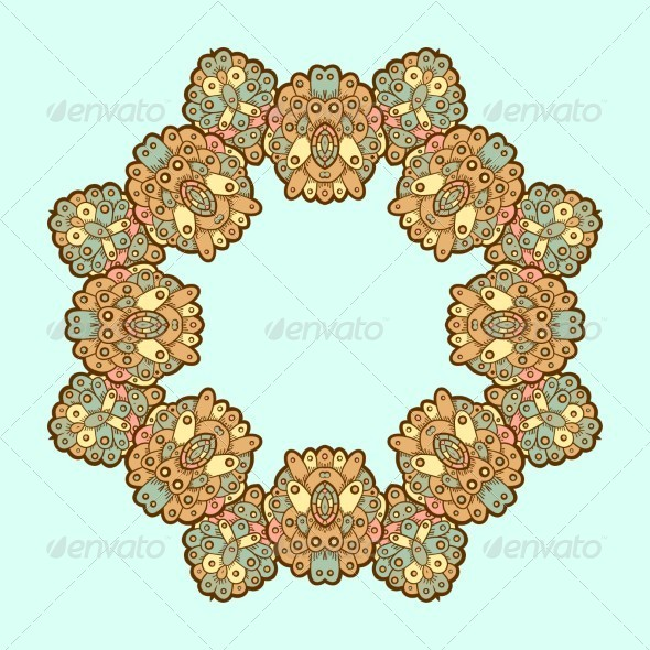 GraphicRiver Ornamental Lace Pattern Circle 5151178