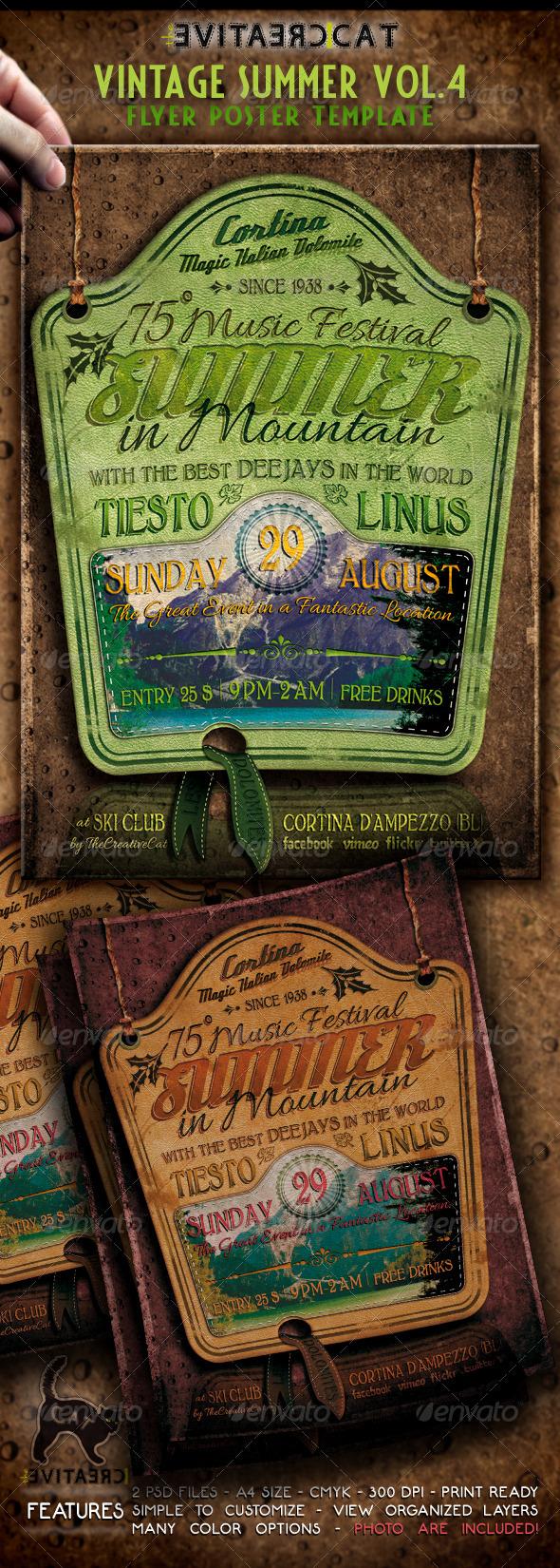 Vintage Summer Flyer/Poster Vol.4 - Events Flyers