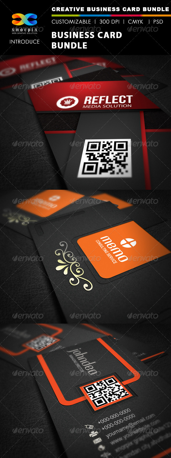GraphicRiver Business Card Bundle 3 in 1-Vol 9 5151276