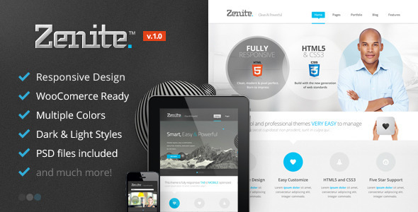 ThemeForest Zenite Responsive Multi-Purpose WordPress Theme 5125027
