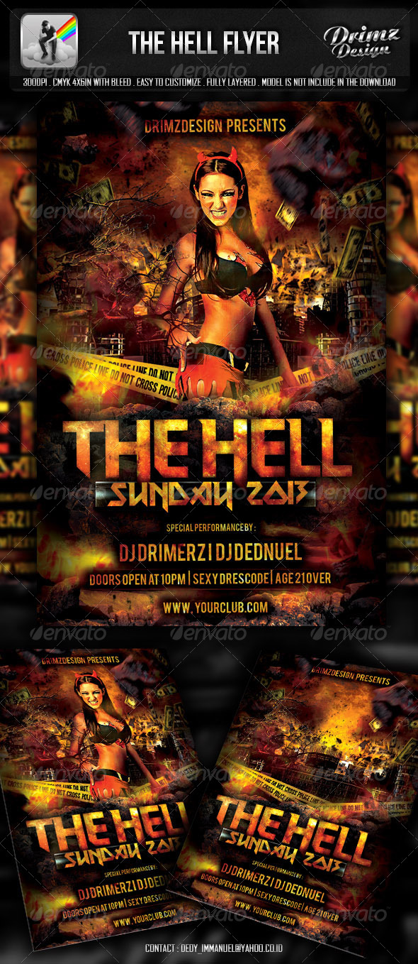 GraphicRiver The Hell Flyer 5153382