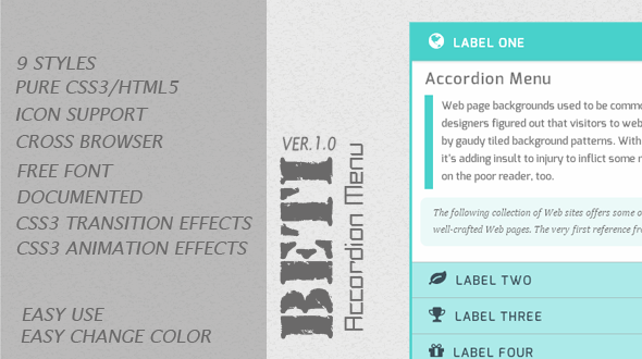 CodeCanyon BETI Accordion Menu 5154815