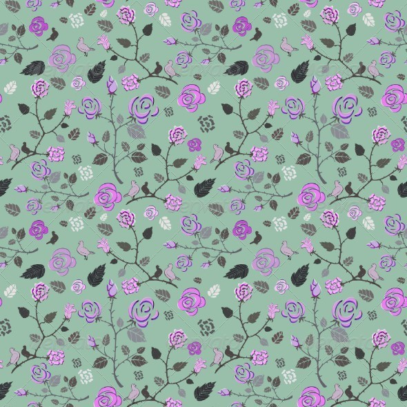 GraphicRiver Seamless Floral Pattern 5155125