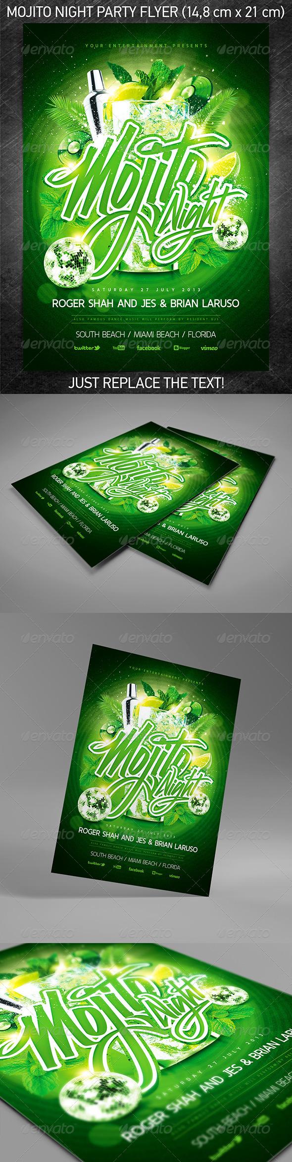 GraphicRiver Mojito Night Party Flyer 5155126